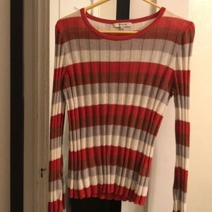 Madewell ribbed striped sweater small